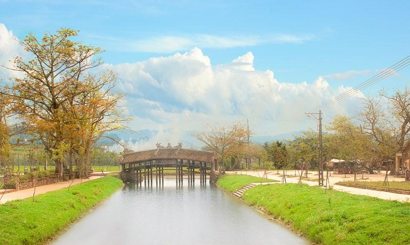 Thanh Toan Bridge in Hue Vietnam